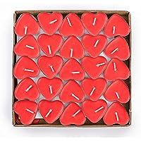 Ailiebhaus Conjunto de 50 velitas aman velas flotantes velas sin humo pudín romántica (Rojo)