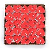 Ailiebhaus Parfumée Bougies Lot de 50 Bougies Forme de Coeur d'amour