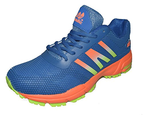 BTS 1730-3 SPEEDRACING, Racing-Trailschuh Sportschuhe, Farbe Blau/ NeonGruen/Orange , Gr.: 41-46 Blau/ Gruen/ Orange