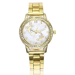 Damen Uhren KiyomiQvQ Unregelmäßiger Strass Gehäuse Armbanduhr Klassische Edelstahl Armband Luxusuhren Schöne Delphin Druck Zifferblatt Watch Qualität Quarzuhrwerk Quarzuhr