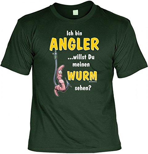 Modicana® T-Shirt - Bin Angler, willst meinen Wurm sehen ? - lustiges Funshirt Angeln