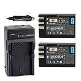 DSTE 2x EN-EL9 ENEL9 Li-ion Battery + DC15 Charger for Nikon D40 D40x D60 D3000 D5000 Camera