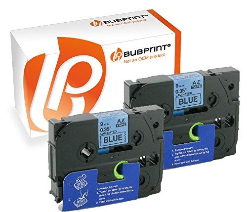 Bubprint 2 Schriftbänder kompatibel für Brother TZE-521 TZE521 für P-Touch 1280 2430PC 2730VP 3600 9500PC 9700PC D400VP D600VP H100LB H105 P700 P750W