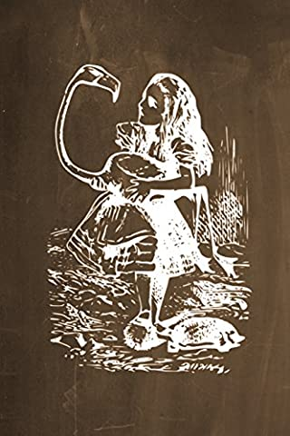 Alice in Wonderland Chalkboard Journal - Alice and The Flamingo (Brown): 100 page 6