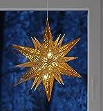 Benelando Stern/Weihnachtsstern aus Holz mit sechs warm-weißen LEDs