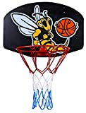Basketballboard ABA Basketballkorb mit Netz Basketball Backboard für Kinder Basketballbrett inklusive Korb und Netz Basketballring Indoor (Biene)