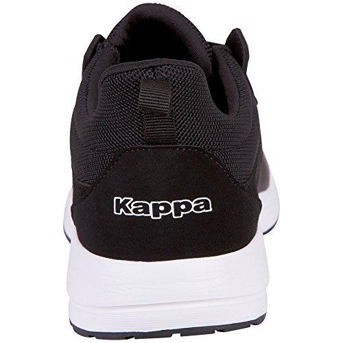 Kappa Tray II Sun, Baskets Mixte Adulte Schwarz (1110 White/Black)