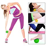 Zilong 3 Pack Massage Ball for Feet, Back, Myofascial Release, Muscle Knots,Acupressure, Deep Tissue Massage, Plantar Fasciitis, Trigger Point Therapy, Pressure Point Lacrosse Exercise Massage Balls, Rollers