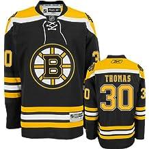 Tim Thomas Boston Bruins Reebok Black Premier Jersey