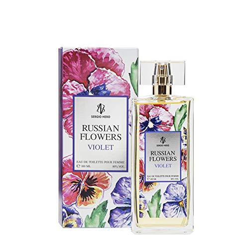 Russian Flowers VIOLET Damenduftwasser, 100 ml - NEUES Blumenaroma für SIE (Herren Hat Russian S)