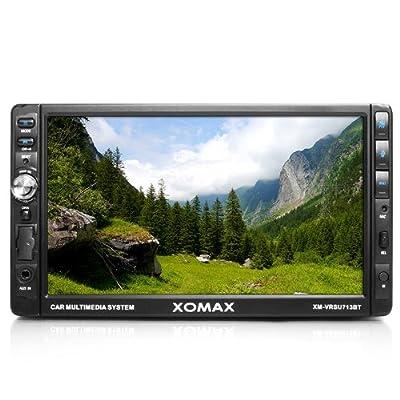 """XOMAX XM-VRSU713BT Autoradio Moniceiver mit 18 cm / 7"""" Touchscreen Display + Bluetooth Freisprecheinrichtung und Musikwiedergabe via A2DP + USB Anschluss (bis 32 GB!) & SD Karten Slot (bis 32 GB!) für Audio und Video Dateien: MP3, WMA, MPEG4, AVI, DIVX e"""