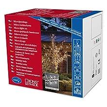 Konstsmide 2376-003 Microlight Guirlande d'Eclairage 24 V 160 Lampes Claires + Câble Transparent