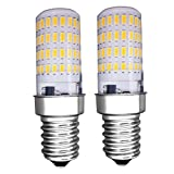 MZMing [2 Stück] E14 LED Glühbirne 4W Kühlschrank Glühbirne - Dimmbar 3000K Helles Warmes weiß Licht AC220-240V 450 Lumen 360° Abstrahlwinkel - Ersatz für 40W Halogenlampe - Niedrige Hitze für Kühlschrank / Dunstabzugshaube / Nähmaschine