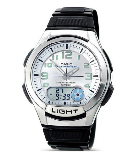 Casio AQ-180W-7BVES – Reloj analógico de caballero de cuarzo con correa negra