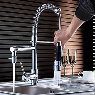 Auralum® El Grofo de La Cocina con Rociador de Agua Ajustable para Alta Presión de Agua