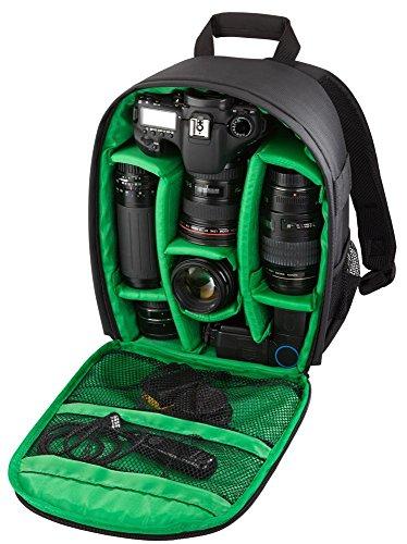Riva Kamera Reise Rucksack Case Schutz Tasche Bag für SLR, Objektive und Zubehör in Schwarz für Sony Alpha 7