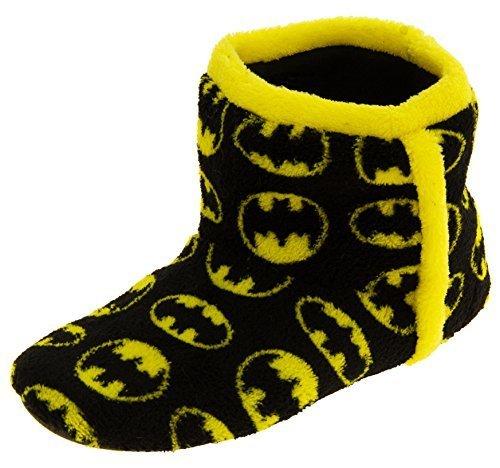 Batman Unisex Bambino Nero In Pile Boot Pantofole EU 38