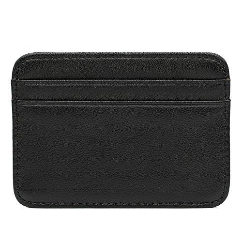 Hibate Premium Sheep Leather Slim Credit Card Holder for Women's Bank Cards Case Sleeve (Super Soft)