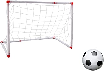 Kid's Soccer Goal Easy Installation Soccer Net Soccer Goal Net with Soccer Ball and Air Pump