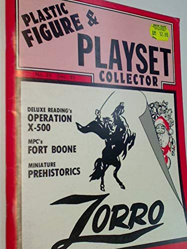 Plastic Figure & Playset Collector 1993 No. 28 Operation X-500, Zorro Playset, MPC s Fess Parker as Daniel Boone Fort Boone, US- Magazine
