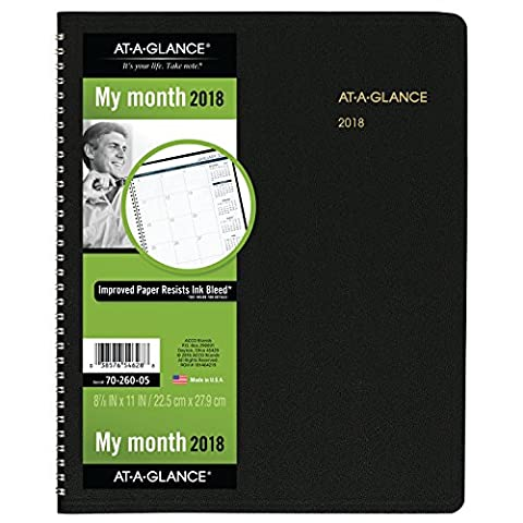 AT-A-GLANCE Monthly Planner, January 2018 - March 2019, 8-7/8