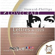Lettres de 1929 - Juillet à Décembre
