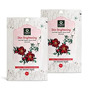 Organic Harvest Brightening Face Sheet Mask, Helps in Skin Brightening, ECOCERT & PeTA Certified, Paraben & Sulphate Free- 20gm (Pack of 2)