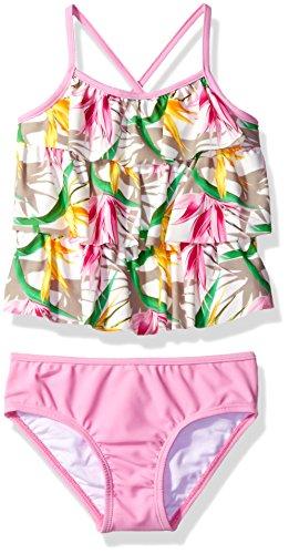 Tommy Bahama Girls' Flounce Ruffle Tankini Two Piece Bikini Set (Bahama Tankini)