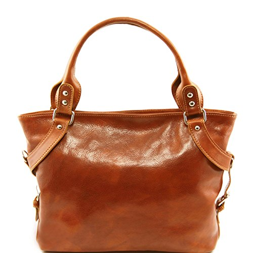 Tuscany Leather Ilenia - Borsa a spalla Nero Borse donna a tracolla Miele