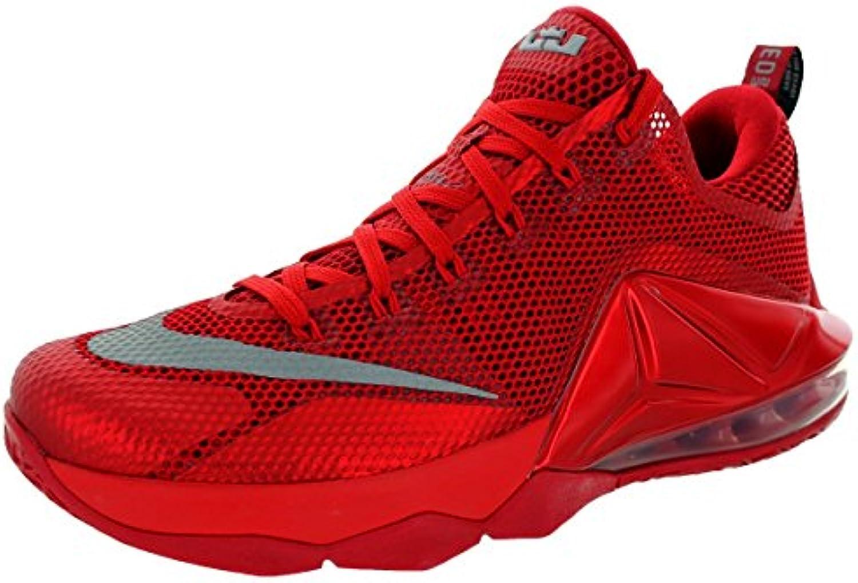 nike lebron xii faible hommes round toe rouge synthétique synthétique synthétique chaussure de basket 0fd917