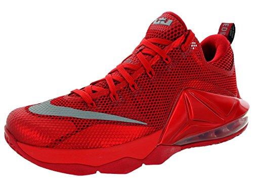 Lebron XII Low Basketball Shoe unvrsty rd, rflct slvr-gym rd-b