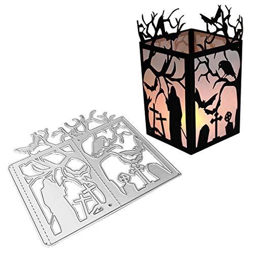 Halloween Bäume - Lisanl Halloween Metall Stanzformen Baum Schablone