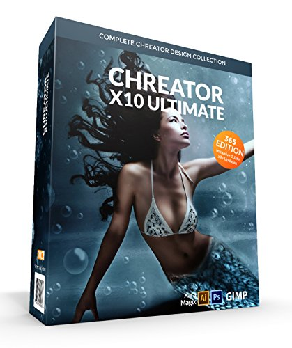 CHREATOR X10 MeerMaid - all in one Designsuite für Webdesign, Grafik, Social Media, Video, Banner, Layouts uvm. Ultimate Edition für kommerzielle Projekte. Mehr als 40.000 Designelemente inkl. Stockphoto Platinum, Landingpage Designer, Präsentations-Designer, Ebook Designer Plus uvm.