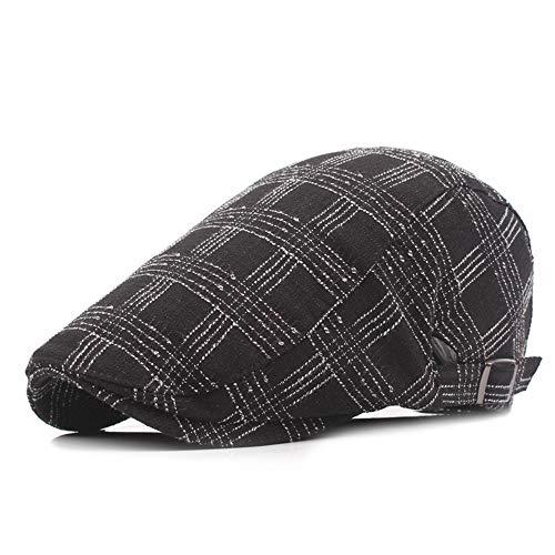 Chengzuoqing Herren Flatcaps Winter-Warmer Knit Tweed-Zeitungsjunge Gatsby Ivy Cap Golf Cabbie Driving Hat Flache Mütze für Herren (Color : Black) Tweed Ivy Hat
