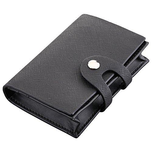 Plemo Kreditkartenetui aus echtem Leder mit 6 Fächern und einem Visitenkartenfach