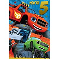 Blaze And The Monster Machines 5th Birthday Card