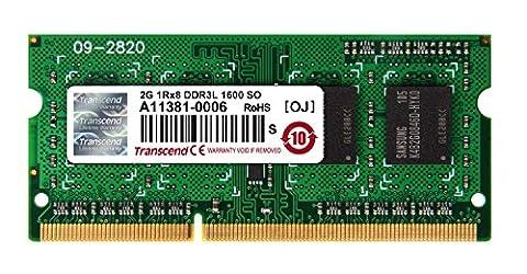 TRANSCEND SODIMM DDR3L 1600Mhz 2GB Non-ECC SRx8 1.35V CL11