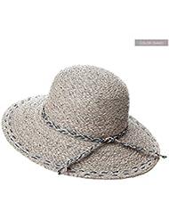 LWT - Sombrero sombrero de marea de verano femenino Sombrero de paja Rafi sombreros encapuchados sombrero sombrero de playa playa de viaje
