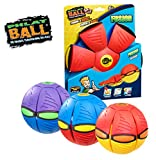 "Throw a disc, catch a ball! Phlat Ball is a unique toy that transforms from a 9"" flying disc to a 6"" diameter ball when thrown. Its soft plastic, flexible material provides a comfortable grip for active play! Three awesome fusion colours available, b..."