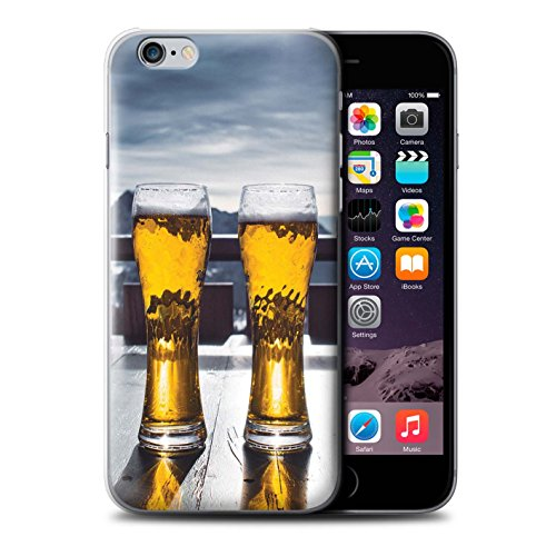Stuff4® Hülle/Case für Apple iPhone 6 / Skihütte/Bier Muster/Skifahren/Snowboard Kollektion - Snowboard Mp3
