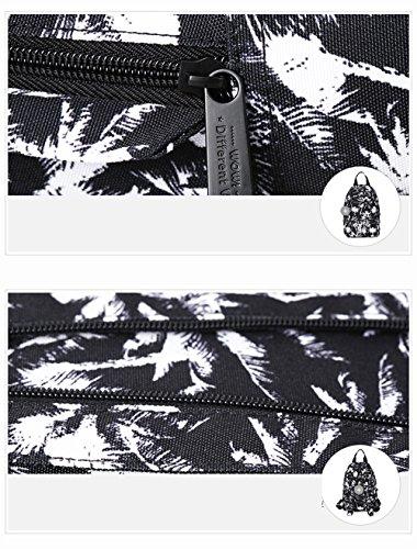 Borsa femminile dello zaino dello zaino della spalla / borsa dell'allievo di personalità / sacchetto di corsa selvaggio coreano ( Colore : Bianca ) Nero