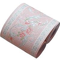 "Da Jia Inc 4.2x196.5"" Waterproof Wallpaper Border 3D Pattern Wall Decor Removable Self Adhesive Kitchen Bathroom Tiles Stciker, Vine Pink"