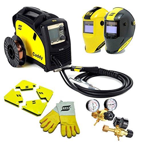 Preisvergleich Produktbild ESAB C200i Caddy Schweissgerät SET mit Helm,  Magnetwinkel,  Draht und Handschuhe