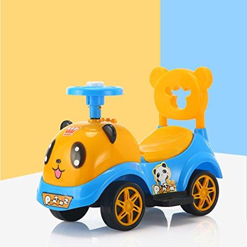 Auto und Push Kleinkind Spielzeug mit echten Auto Geräusche, Alter 12 Monate und höher (niedlich - Cartoon - Panda) (Color : Yellow)