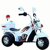 JBMY Bébé Moto Enfants Électrique Garçon Fille 3-6 Ans LargeTricycle Moto Cadeau Off-Road Moto Ride sur Voitures en Plein Air Jouet ( Color : White )
