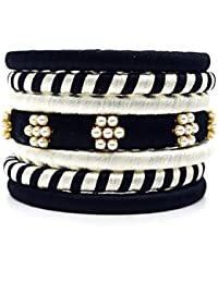 Indi Creation Silk Thread Bangles Ethnic Wear Bangle Set For Women Pack Of 7 Bangle