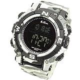 Lad Weather Digital-Uhr, Militär-Look, leistungsstarker Akku, solar, wasserdicht 100Meter, Smartwatch