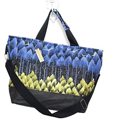 Shopper Reisetasche, Designertasche schwarz blau - 2