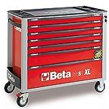 Servante BETA mobile extra-large à 7 tiroirs avec système anti-basculement Rouge C24SA-XL/7 024002273