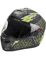 Steelbird SBA-1 Free Live Matt Black with Green with Plain visor